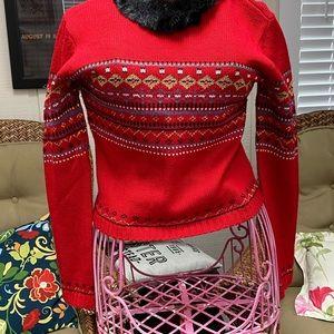 Vintage Spiegel holiday scoop neck sweater M